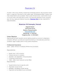 Sample Musician Resume Resume Music All New Resume Examples Resume Template