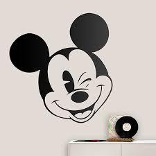 kids wall sticker mickey mouse winks