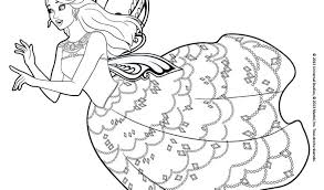 Cool Barbie Princesse Free Coloring Book