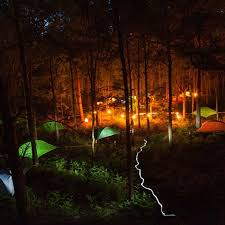 camping in the woods at night. Outdoor Tent Tentsile Forest At Night Camping Tents Summer Holiday In The Woods