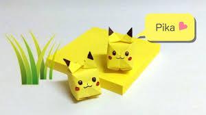 pikachu sticky note origami