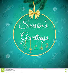 Seasons Greetings Holiday Background Xmas Greeting Card With