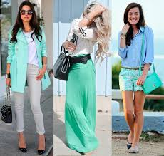 Colors That Match With Mint Green] Spring Fashion Color Trends .