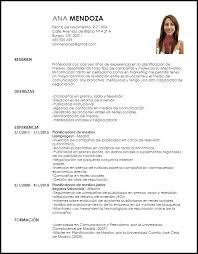 Modelo Curriculum Vitae Planificadora De Medios Livecareer