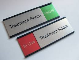 in out sliding signs office door slider signs room name plates