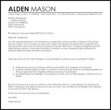 Bunch Ideas Of Beauty Consultant Cover Letter Sample For Sample