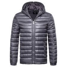 zogaa men padded jacket lightweight parka jacket hooded coat winter warm clothing mens parkas solid slim