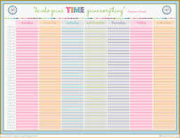 Fresh Free Weekly Schedule Template | Aguakatedigital Templates ...