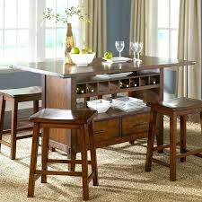 Dining Tables With Wine Rack Pub Style Dining Table Large Size Of
