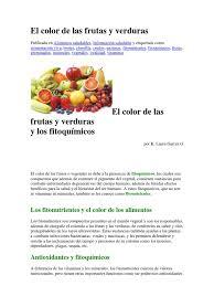 El Color De Las Frutas Y Verduras Docx