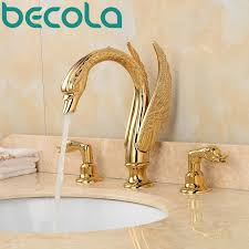 gold swan bathtub faucet. free shipping high luxury gold swan bathtub faucet bathroom sink tap dual handle basin b e