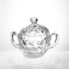 clear glass sugar bowl