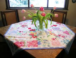 Q is for quilter: Patchwork Table Topper from vintage tablecloth   I love  vintage   Pinterest   Patchwork, Linens and Vintage
