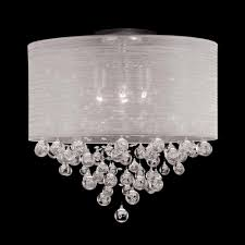 navy blue chandelier shades best of new 4 lamp drum shade crystal flush mount ceiling light
