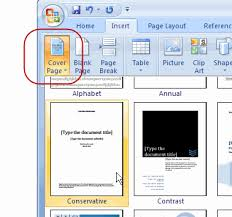 Add A Cover To A Word 2007 Document Contextures Blog