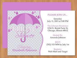 cute umbrella bridal shower microsoft word invitation template