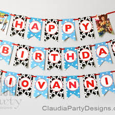 custom happy birthday banner toy story birthday banner toy story personalized banner