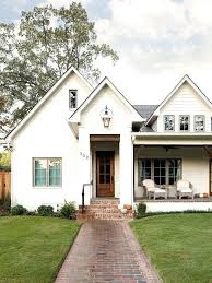 Superb White Painted Brick House White Brick Wood Front Door Porch Cool Numbers  And Lantern Fancy Walkway