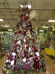 burgundy gold christmas tree designed by arcadia floral home