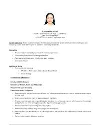 Example Of A Good Objective On A Resume Sample Objective Of Resume Objective For Resume First Job Good