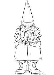 Small Picture Garden Gnome coloring page Free Printable Coloring Pages