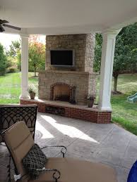 chesterfield mo covered patio makeover poynter landscape for amazing outdoor porch fireplace
