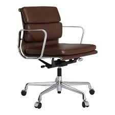 industrial age furniture. Eames EA217 Chair Brown Leather Industrial Age Furniture E