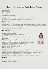 Supply Technician Resume Sample Sterile 2 Bprocessing 2 Btechnician