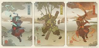 dota 2 ukiyo e three spirits by swadeart on deviantart