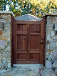custom made redwood garden gate