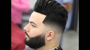 New Haircut Pompadour New Hairstyle Skin Fade 2017 Youtube