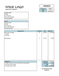 Example Of A Invoice Hourly Invoice Template Hourly Rate Invoice Templates Free