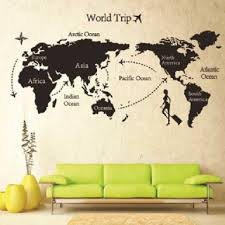 world map wall decor vintage in decorating home ideas with world map wall decor