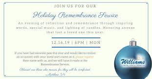 Holiday Name Holiday Remembrance Service Experience Maury