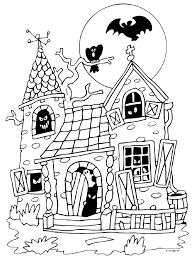 Spookhuis Kleurplaat Google Zoeken Peuters Halloween