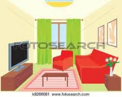 living room furniture clipart. clipart of living room k8266081 search clip art, illustration murals furniture p
