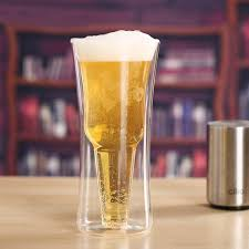creative double cup personalized beer mug double wall beer glass for wholer