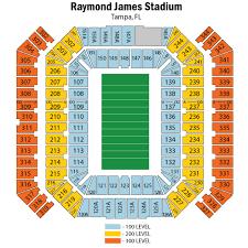 Raymond James Stadium Seating Chart Views Reviews Tampa