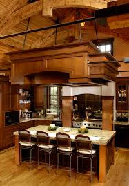 rustic kitchen in warm tones