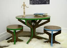 image of modern kids table round