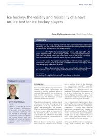 pdf relation of physical fitness test results and hockey playing potential in elite level ice hockey players