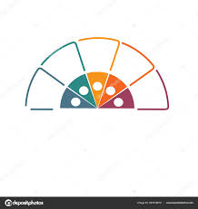 Template Pie Chart Infographic Colourful Lines Text Areas