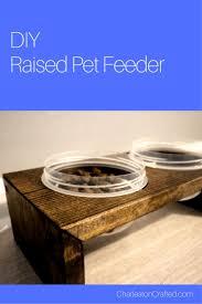 diy pet bowls and feeding stations diy raised pet feeding station easy ideas for