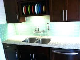 kitchen backsplash glass tile green. Sea Glass Tile Backsplash Kitchen Image  Misty . Green