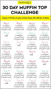 30 Day Muffin Top Challenge For A Smaller Waist Femniqe