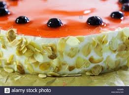 Jelly Birthday Cake Design Macro View Birthday Cake Dessert Black Cherry Berries Red
