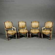 cheap dollhouse furniture. Pair Of Early French Dollhouse Armchairs Antique Chairs And With Golden Silk Upholstery - From The Louis BADEUILLE Firm Cheap Furniture