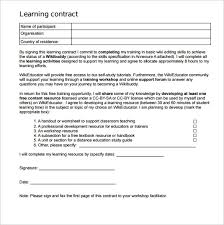 Basic Contract Outline Learning Contract Template 14 Download Free Documents In