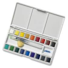 Amazon.com: Jerry Q Art 18 Assorted Water Colors Travel Pocket Set- Free  Refillable Water Brush With Sponge - Easy to Blend Colors - Built in  Palette ...
