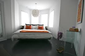 floating platform bed Bedroom Modern with bay window clear plastic. Image  by: catlin stothers design